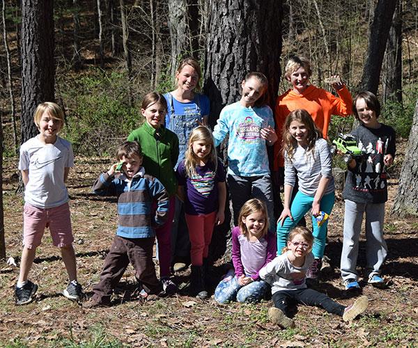 Children at an outdoor BSPC progrma