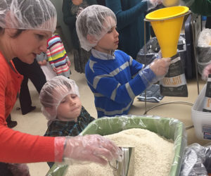 Children helping with the BSPC mission