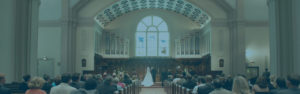Life Events at Broad Street Presbyterian Church, photo of couple getting married at BSPC