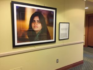 Dreamers of Columbus Portraits in Palmer Hall hallway