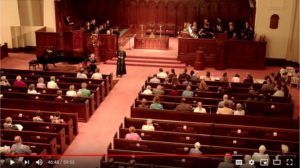 Video Image of 11:00 a.m. Worship Service at Broad Street Presbyterian Church