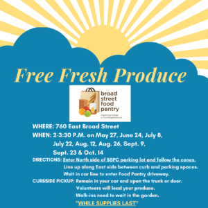 Invitation to BSPC Free Produce Giveaway